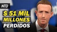 NTD Noticias: Twitter y Facebook pierden $ 51 mil millones; Representante planea impeachment contra Biden