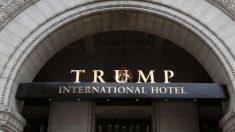 Vídeo muestra cómo el Hotel Trump sirvió de zona de descanso para la policía el día de la Inauguración