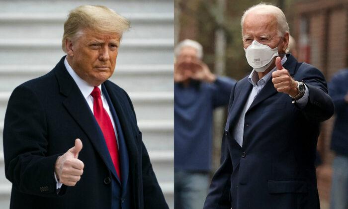 El presidente Donald Trump, a la izquierda, y el candidato presidencial demócrata Joe Biden en fotografías de archivo. (Getty Images)