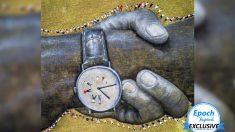 Artista pinta un mural de la cadena humana más grande del mundo en 5 continentes