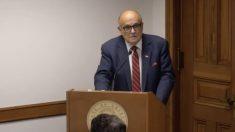 ¿Tienen el coraje de defender la Constitución de EE.UU.?, pregunta Giuliani en el Senado de Georgia