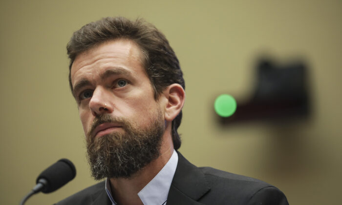 El director ejecutivo de Twitter, Jack Dorsey, testifica ante el Congreso en Washington el 5 de septiembre de 2018 (Drew Angerer / Getty Images).