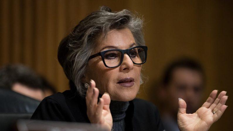 La senadora Barbara Boxer (D-Calif.) habla en Washington el 26 de mayo de 2016. (Drew Angerer/Getty Images)