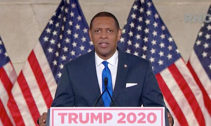 El representante demócrata de Georgia, Vernon Jones, habla en la Convención Nacional Republicana virtual el 24 de agosto de 2020. (Cortesía del Comité de Arreglos para el Comité Nacional Republicano de 2020 a través de Getty Images)