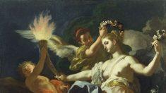 La belleza eterna de la verdad y el amor divino: 'Aurora despidiéndose de Tithonus'