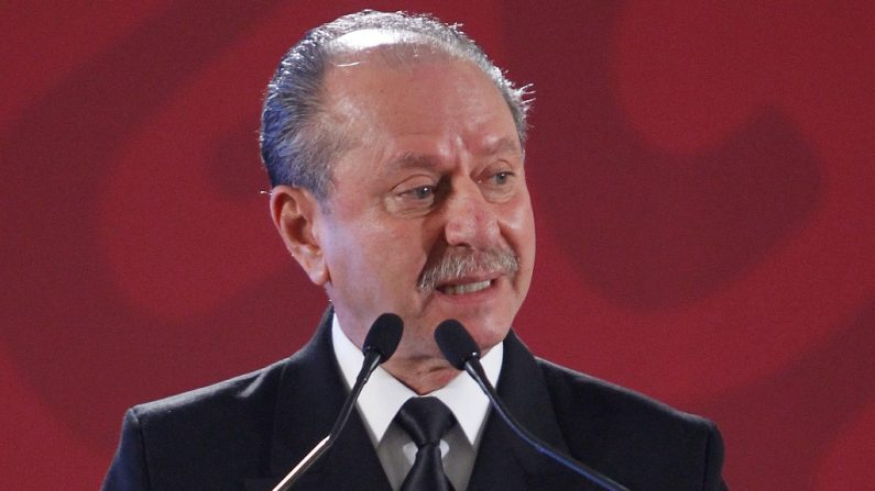 Fotografía de archivo fechada el 2 de enero de 2019, del Secretario de Marina José Rafael Ojeda, durante un acto protocolario en Ciudad de México. EFE/Sáshenka Gutiérrez/Archivo
