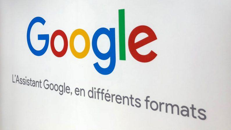 El logotipo de la empresa multinacional de tecnología estadounidense Google, en el norte de Francia, el 3 de agosto de 2018. (Denis Charlet/AFP a través de Getty Images)
