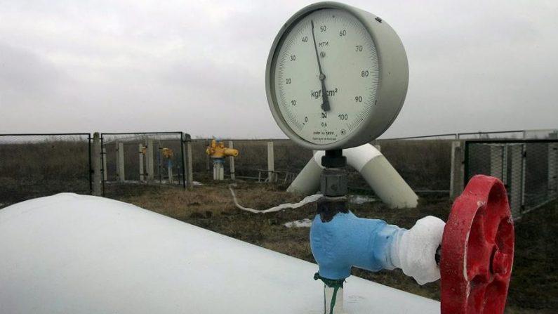 Indicador de nivel de presión en un gaseoducto. EFE/Sergey Dolzhenko/Archivo