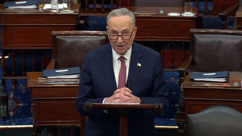 El líder de la mayoría del Senado Chuck Schumer (D-N.Y.). (Foto de congress.gov vía Getty Images)