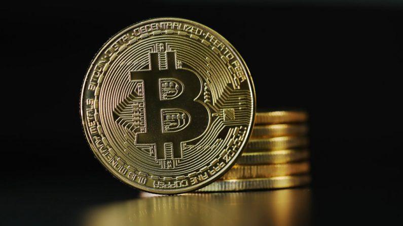 Una representación visual de la criptomoneda digital, Bitcoin, el 23 de octubre de 2017 en Londres, Inglaterra. (Dan Kitwood / Getty Images)