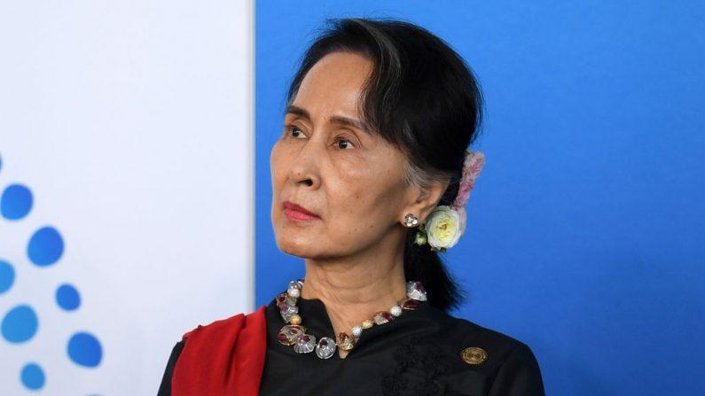 La consejera de Estado de Birmania Aung San Suu Kyi asiste a la Recepción del Nuevo Plan Colombo durante la Cumbre Especial ASEAN-Australia en la Asociación de Naciones del Sudeste Asiático, ASEAN, cumbre especial el 17 de marzo de 2018, en Sydney, Australia. (Dan Himbrechts - Pool / Getty Images)