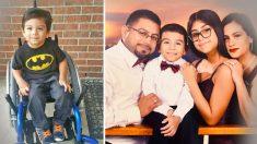 Niño con parálisis cerebral salva a sus padres arrastrandose para avisarles sobre fuga de gas