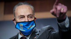 """Schumer pide """"unidad"""" a los demócratas tras debate sobre la subida salarial"""