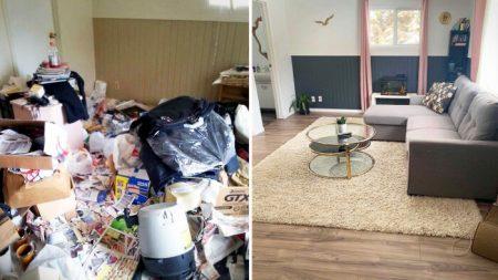 Mujer pasa 4 años transformando un tugurio en una hermosa casa familiar, las fotos son increíbles
