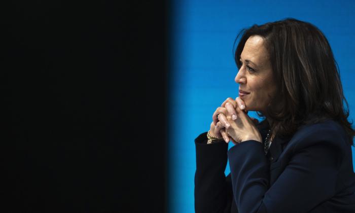 La vicepresidente Kamala Harris en Washington, el 5 de febrero de 2021. (Drew Angerer/Getty Images)