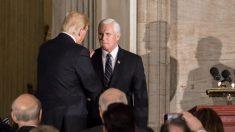 Pence elogia a Trump durante una reunión con republicanos