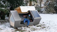 Ciudad de Alemania instala módulos para dormir para proteger a personas sin hogar del gélido invierno