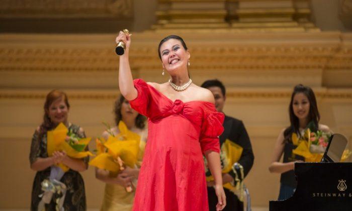 La ceremonia de premiación de la competencia vocal anual de NTD concluye en el Carnegie Hall. La competencia de 2021 se llevará a cabo en octubre y la fecha límite para la presentación de solicitudes es el 23 de septiembre de 2021 (DAI BING / THE EPOCH TIMES).