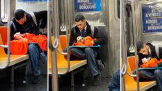 """Pasajera en metro de NY ve a joven dándole biberón a un gatito: """"Esto renovó mi fe en la humanidad"""""""