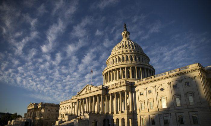 El edificio del Capitolio de EE. UU. se muestra en Washington, el 7 de noviembre de 2018. (Zach Gibson/Getty Images)