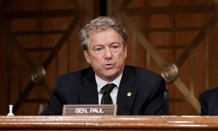 El senador Rand Paul (R-Ky.) en Capitol Hill, el 16 de diciembre de 2020. (Greg Nash-Pool/Getty Images)