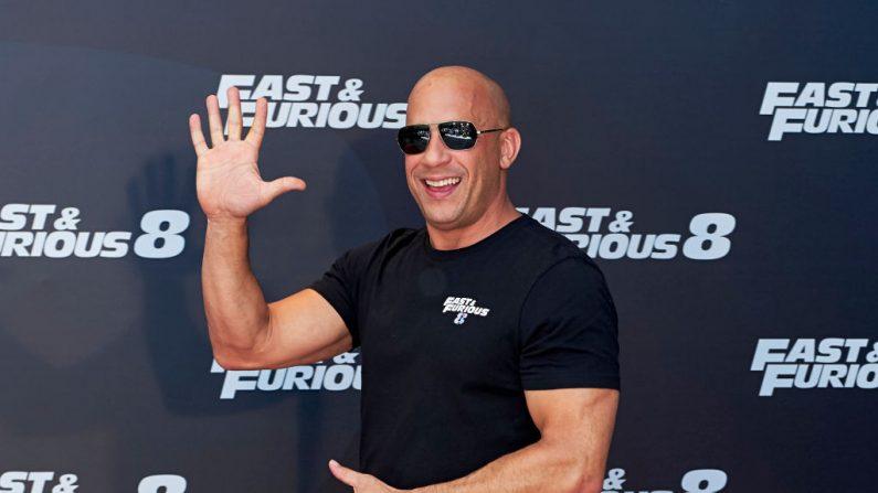 El actor Vin Diesel asiste al photocall de 'Fast & Furious 8' en el Hotel Villamagna el 6 de abril de 2017 en Madrid, España. (Carlos Álvarez/Getty Images)