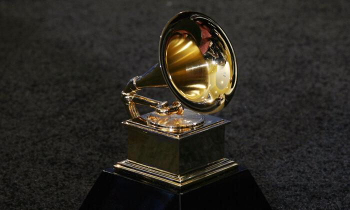 El trofeo de los premios Grammy en Los Ángeles el 11 de febrero de 2007. (Gabriel Bouys a través de Getty Images)