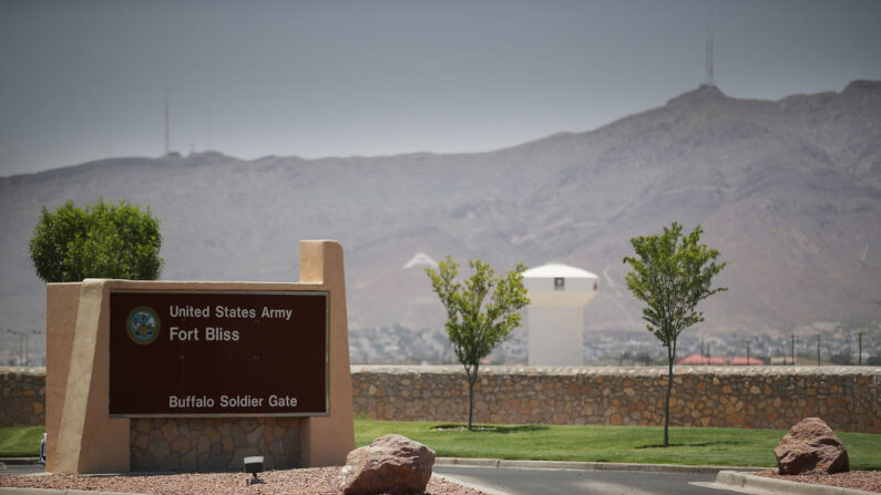 Entrada a Fort Bliss, Texas. (Joe Raedle/Getty Images)