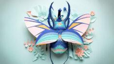Artista británica recorta a mano impresionantes esculturas de papel inspiradas en la naturaleza