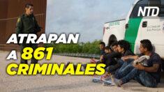 NTD Noticias: Atrapan a 861 criminales en la frontera; Web de la Casa Blanca: Administración Biden Harris