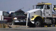 13 muertos en accidente en California habrían entrado ilegalmente por agujero en valla fronteriza