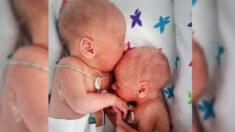 Padres comparten fotografías del primer abrazo de bebés mellizos que fueron separados al nacer