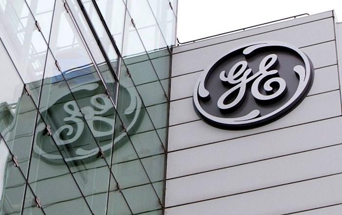 Imagen de archivo del logo del grupo estadounidense General Electric (GE). EFE/Urs Flueeler/Archivo