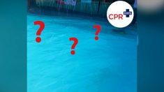 ¿Puede identificar al niño en esta foto de esta piscina? Es una advertencia para los padres