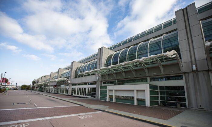 Centro de Convenciones de San Diego, en San Diego, California, el 22 de julio de 2020. (Daniel Knighton/Getty Images)