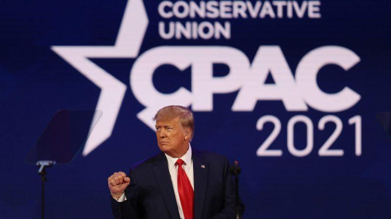 El expresidente Donald Trump en la Conferencia de Acción Política Conservadora en el Hyatt Regency en Orlando, Florida, el 28 de febrero de 2021. (Joe Raedle/Getty Images)