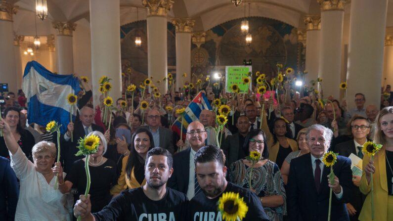 Evento de Pasos de Cambio en la Torre de la Libertad en Miami el 25 de octubre de 2019. (Proporcionada por Cuba Decide)