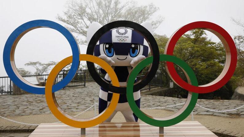 Los anillos olímpicos se exhiben en Hachioji (Japón). EFE/EPA/KIM KYUNG-HOON /Archivo