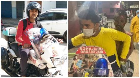 Joven convierte su moto en ambulancia para asistir a personas que viven en extrema pobreza