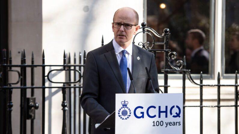 El director del Cuartel General de Comunicaciones del Gobierno (GCHQ), Jeremy Fleming, asiste a un evento para conmemorar el centenario del GCHQ, la Agencia de Inteligencia, Seguridad y Cibernética de Reino Unido, en Watergate House, en Londres, el 14 de febrero de 2019. (Niklas Halle'n/AFP vía Getty Images)