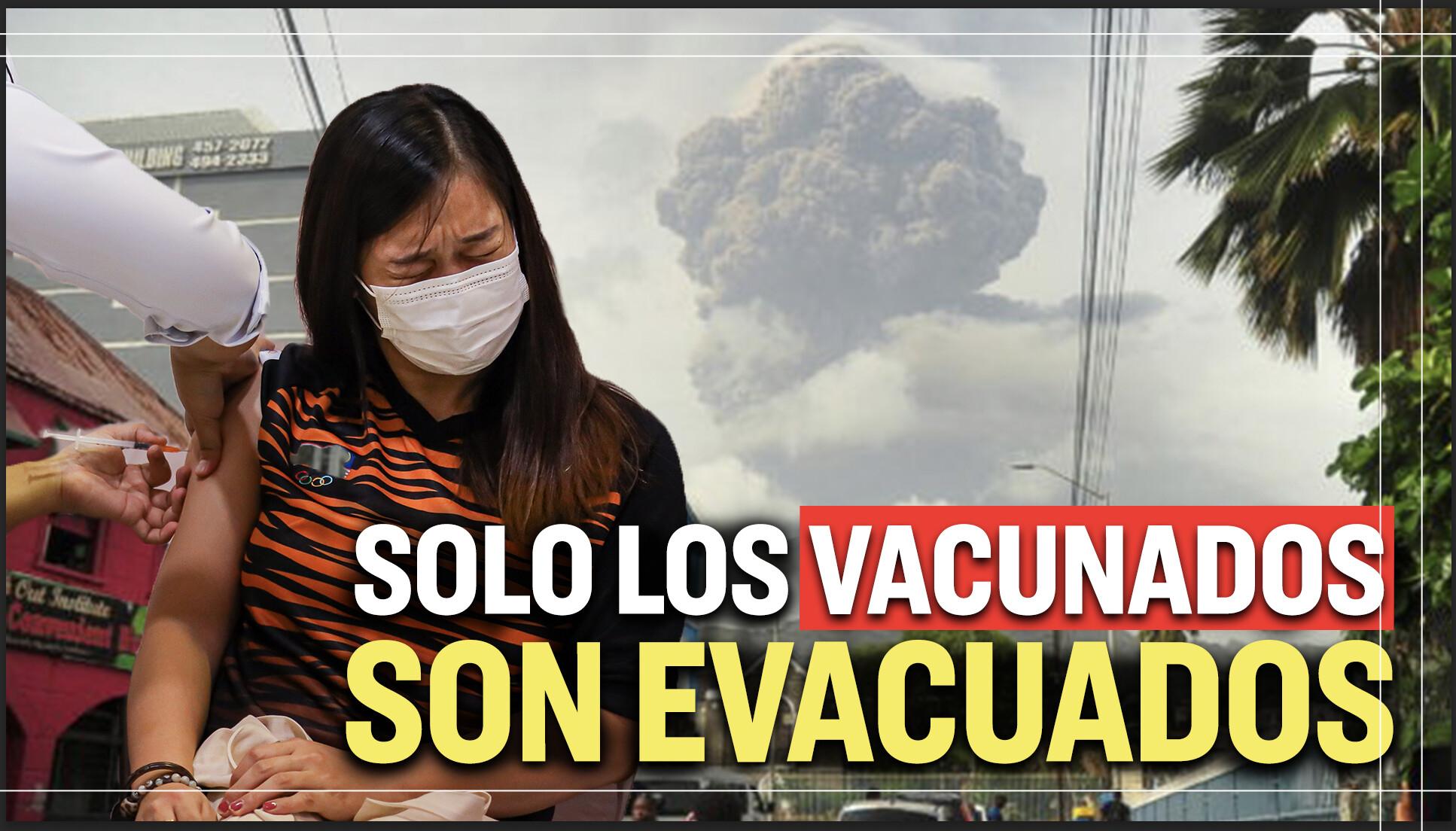 Al Descubierto: Solo los vacunados contra COVID-19 son evacuados del Caribe tras erupción volcánica