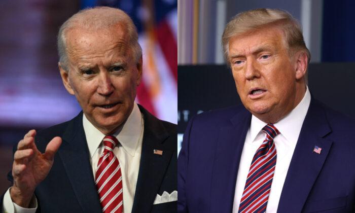 El presidente Joe Biden, a la izquierda, y el expresidente Donald Trump en fotografías de archivo. (Getty Images)