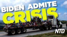 NTD Noticias: Biden llama a la oleada fronteriza una crisis; incautan máscaras falsificadas de China