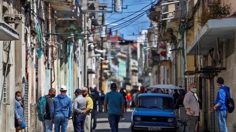 Vista el lunes 5 de abril de 2021 del barrio San Isidro, sede del Movimiento San Isidro (MSI) en La Habana (Cuba). EFE/Yander Zamora