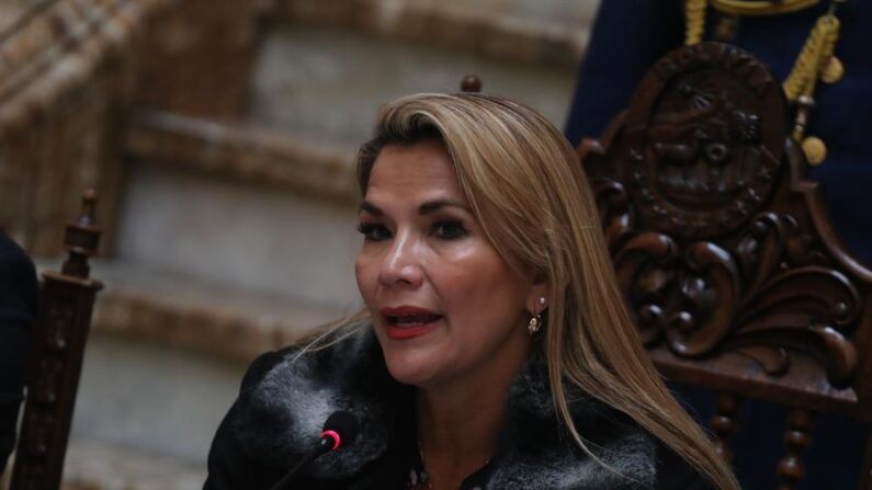 La expresidenta interina de Bolivia, Jeanine Áñez. EFE/ Rodrigo Sura/Archivo