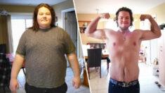 Joven pierde 106 kg en 2 años tras intentar suicidarse y se convierte en levantador de pesas