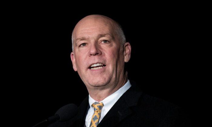El entonces representante Greg Gianforte (R-Mont.) en el Capitolio en Washington, el 6 de diciembre de 2017. (Drew Angerer/Getty Images)