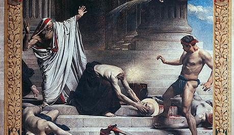 """Un detalle de """"El martirio de San Dionisio"""", 1885, de Léon Bonnat. Panteón, París, Francia. (Dominio público)"""