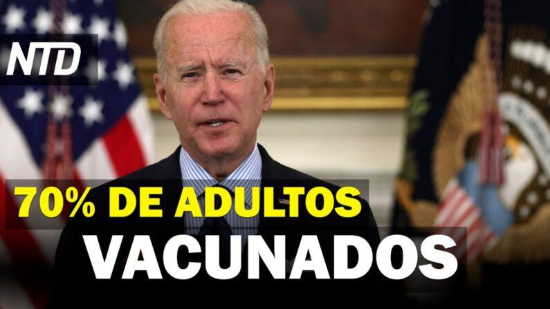 NTD Noticias: Biden: 70% de adultos vacunados para julio; Muere hombre que intentó entrar a la CIA