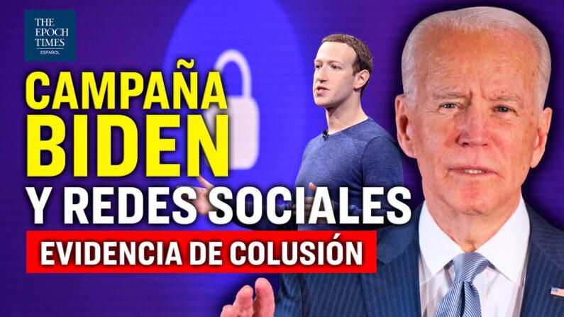 Judicial Watch expuso documentos que vinculan la campaña Biden con bloqueos de grandes tecnológicas. (Al Descubierto/The Epoch Times en Español)